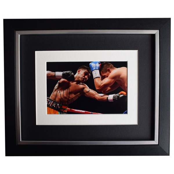 Amir Khan SIGNED 10x8 FRAMED Photo Autograph Display Boxing Sport   AFTAL  COA Memorabilia PERFECT GIFT