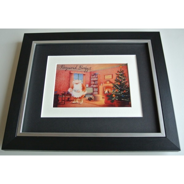 Raymond Briggs SIGNED 10x8 FRAMED Photo Autograph Display Father Christmas & COA AFTAL  TV FILM Memorabilia PERFECT GIFT