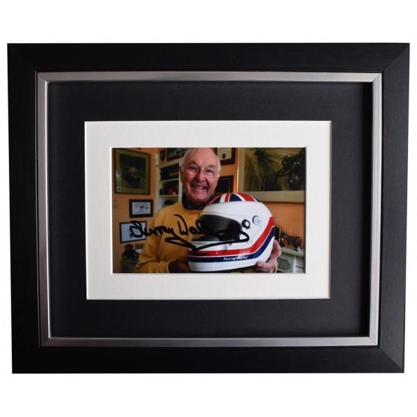 Murray Walker SIGNED 10x8 FRAMED Photo Autograph Display Formula 1 Sport AFTAL  COA Memorabilia PERFECT GIFT