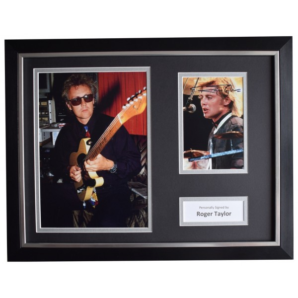 Roger Taylor Signed FRAMED Photo Autograph 16x12 display Queen Music AFTAL  COA Memorabilia PERFECT GIFT