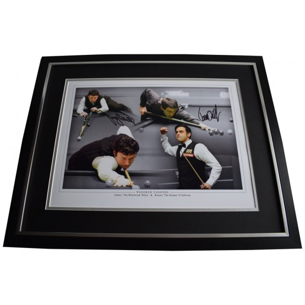 Ronnie O'Sullivan & Jimmy White SIGNED Framed Photo Autograph Huge display PROOF Memorabilia AFTAL & COA  PERFECT GIFT
