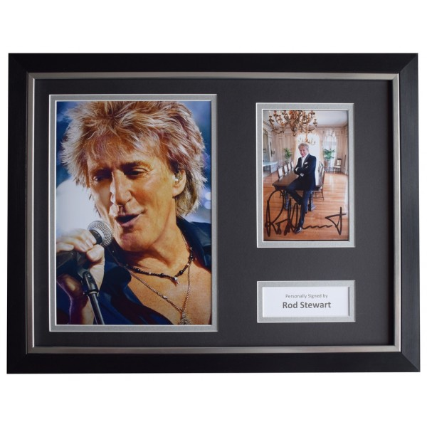 Rod Stewart Signed FRAMED Photo Autograph 16x12 display Music  AFTAL  COA Memorabilia PERFECT GIFT