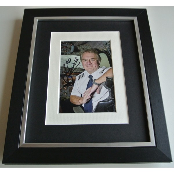Mike Bannister SIGNED 10x8 FRAMED Photo Autograph Display Chief Concorde AFTAL & COA TV FILM Memorabilia PERFECT GIFT