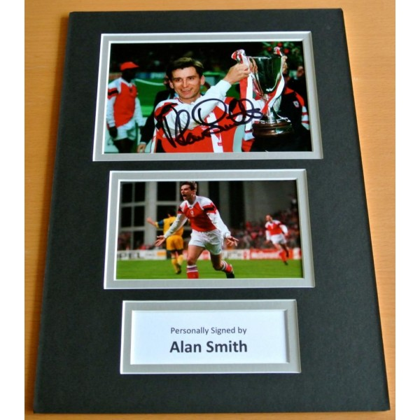 ALAN SMITH SIGNED autograph A4 Photo Mount Display ARSENAL Football Legend & COA Memorabilia PERFECT GIFT