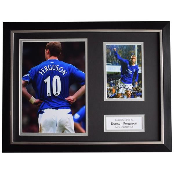 Duncan Ferguson Signed FRAMED Photo Autograph 16x12 display Everton Football  AFTAL  COA Memorabilia PERFECT GIFT