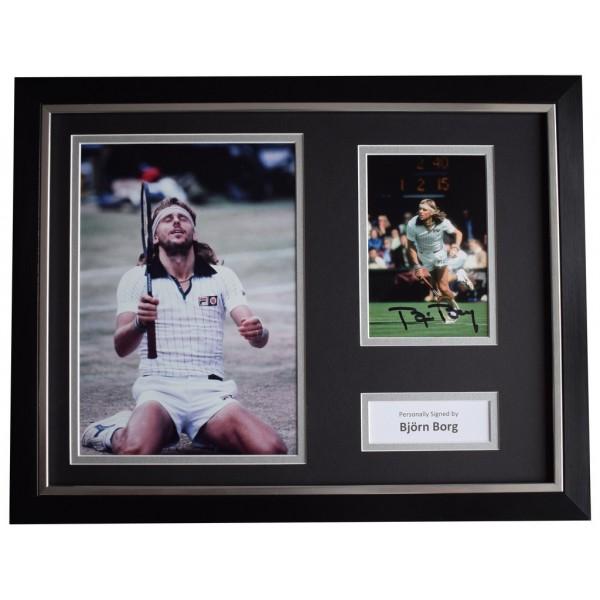 Bjorn Borg Signed FRAMED Photo Autograph 16x12 display Tennis Sport AFTAL  COA Memorabilia PERFECT GIFT