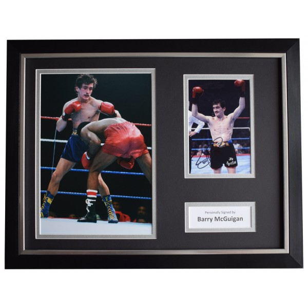Barry McGuigan Signed FRAMED Photo Autograph 16x12 display Boxing Sport   AFTAL  COA Memorabilia PERFECT GIFT