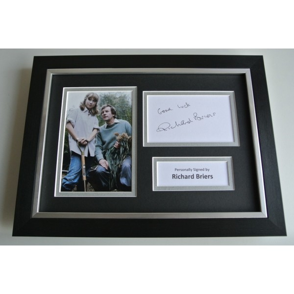 Richard Briers SIGNED A4 FRAMED Photo Autograph Display Good Life TV AFTAL & COA FILM Memorabilia PERFECT GIFT