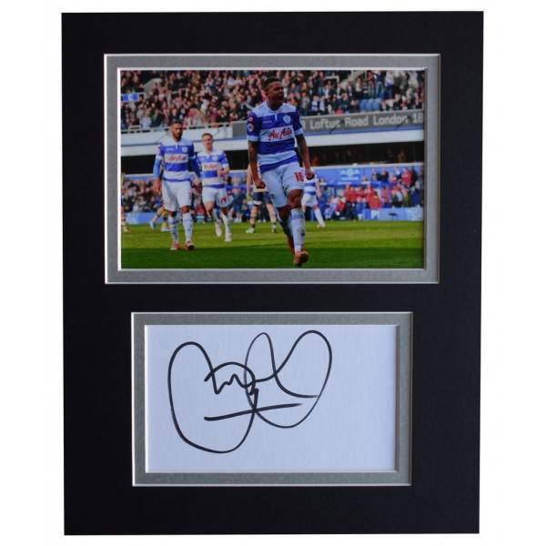 Jermaine Jenas Signed Autograph 10x8 photo display Queens Park Rangers  AFTAL  COA Memorabilia PERFECT GIFT