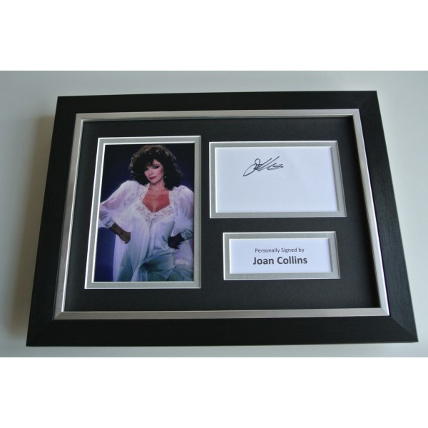 Joan Collins SIGNED A4 FRAMED Photo Autograph Display TV Film Dynasty TV AFTAL & COA FILM Memorabilia PERFECT GIFT