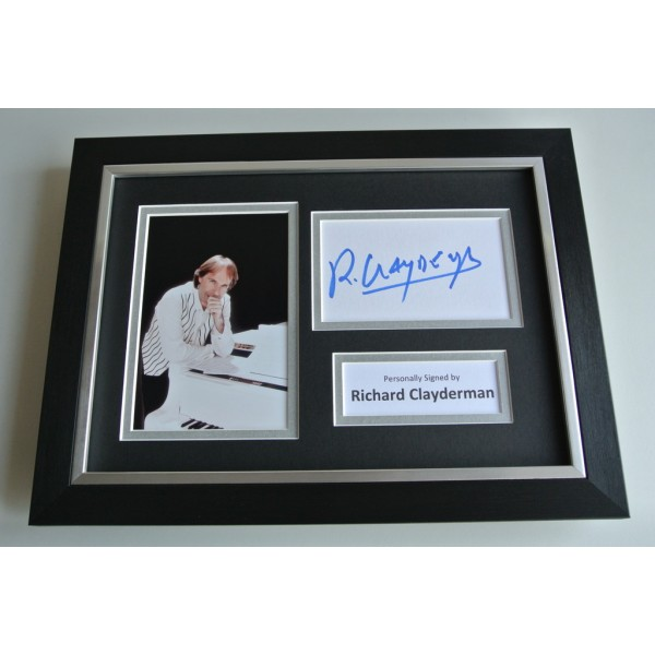 Richard Clayderman SIGNED A4 FRAMED Photo Autograph Display Piano Music  COA  & AFTAL FILM Memorabilia PERFECT GIFT