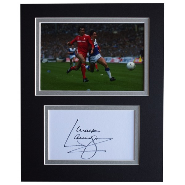 Mark Lawrenson Signed Autograph 10x8 photo display Liverpool Football  AFTAL  COA Memorabilia PERFECT GIFT