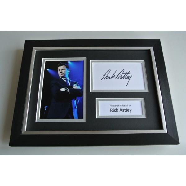 Rick Astley SIGNED A4 FRAMED Photo Autograph Display Music Memorabilia AFTAL & COA FILM PERFECT GIFT