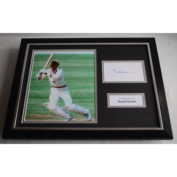 David Gower SIGNED FRAMED Photo Autograph 16x12 display England Cricket   Memorabilia AFTAL & COA  PERFECT GIFT