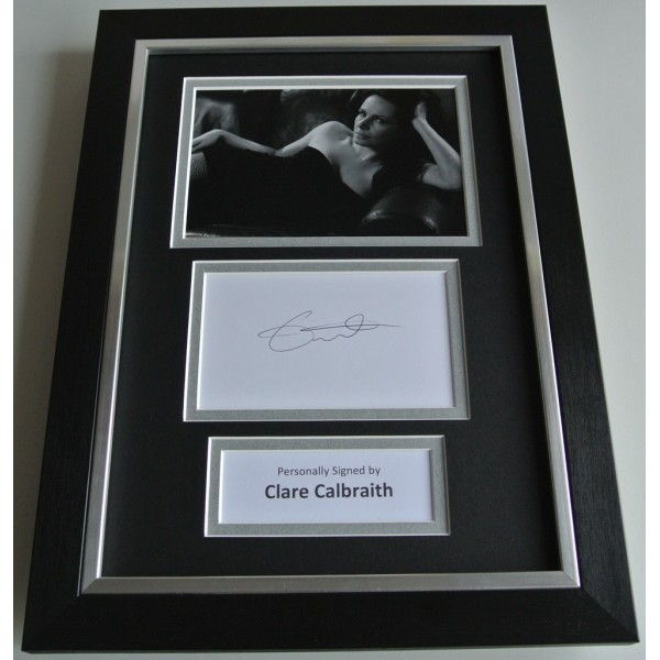 Clare Calbraith SIGNED A4 FRAMED Photo Autograph Display TV Downton Abbey AFTAL & COA film  Memorabilia PERFECT GIFT