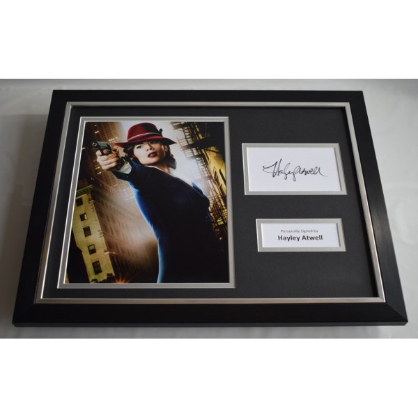 Hayley Atwell SIGNED FRAMED Photo Autograph 16x12 display Captain America Film   Memorabilia AFTAL & COA  PERFECT GIFT