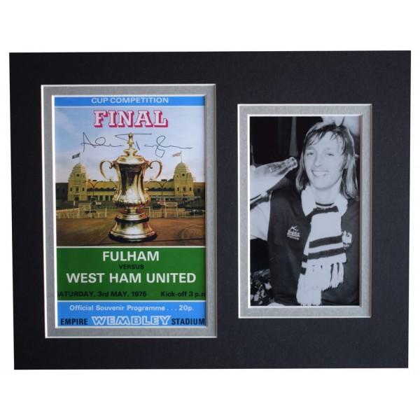 Alan Taylor Signed Autograph 10x8 photo mount West Ham United 1975 FA Cup Final AFTAL  COA Memorabilia PERFECT GIFT