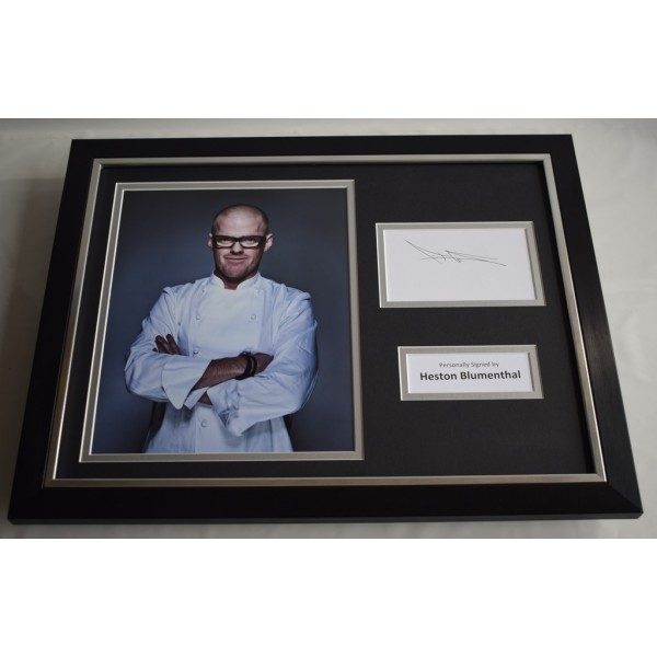 Heston Blumenthal SIGNED FRAMED Photo Autograph 16x12 display TV Chef Memorabilia AFTAL & COA  PERFECT GIFT