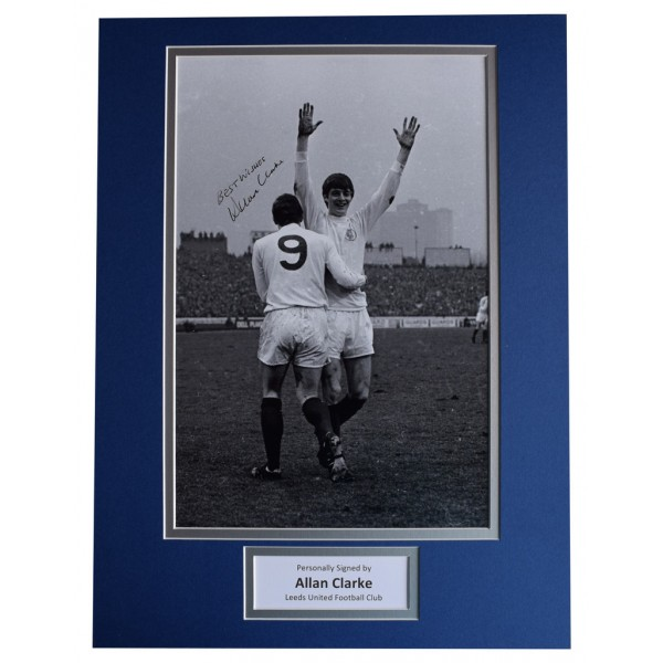Allan Clarke SIGNED autograph 16x12 photo display Leeds United Football AFTAL  COA Memorabilia PERFECT GIFT