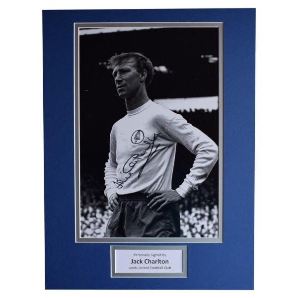 Jack Charlton SIGNED autograph 16x12 photo display Leeds United Football AFTAL  COA Memorabilia PERFECT GIFT