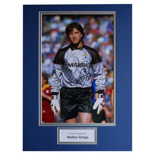 Walter Zenga SIGNED autograph 16x12 photo display Inter Milan Football AFTAL  COA Memorabilia PERFECT GIFT