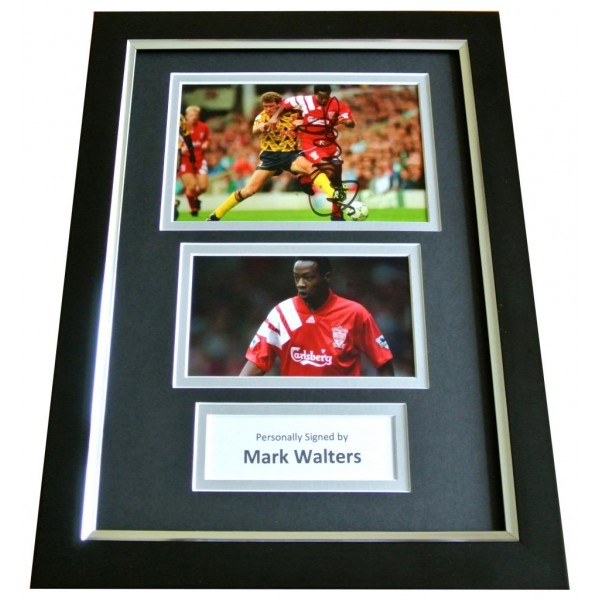 MARK WALTERS Signed A4 FRAMED Photo Autograph Display LIVERPOOL Football LFC COA PERFECT GIFT
