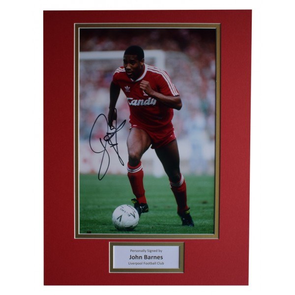 John Barnes SIGNED autograph 16x12 photo display Liverpool Football   AFTAL  COA Memorabilia PERFECT GIFT