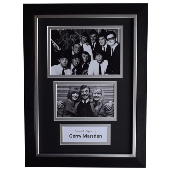 Gerry Marsden SIGNED A4 FRAMED Autograph Photo Display Pacemakers Music AFTAL  COA Memorabilia PERFECT GIFT