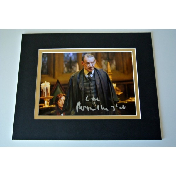 Roger lloyd Pack Signed Autograph 10x8 photo display Harry Potter Film & COA