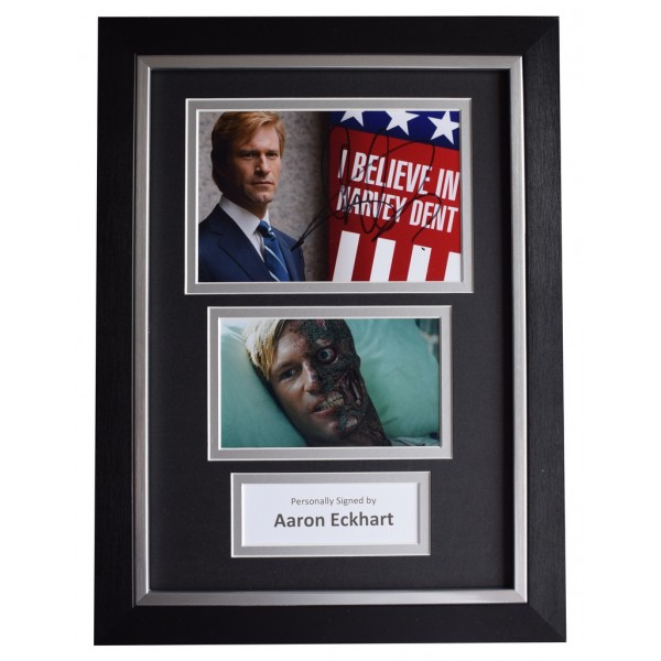 Aaron Eckhart SIGNED A4 FRAMED Autograph Photo Display Batman Film  AFTAL  COA Memorabilia PERFECT GIFT