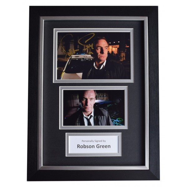 Robson Green SIGNED A4 FRAMED Autograph Photo Display TV Grantchester AFTAL  COA Memorabilia PERFECT GIFT