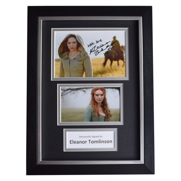 Eleanor Tomlinson SIGNED A4 FRAMED Autograph Photo Display TV Poldark  AFTAL  COA Memorabilia PERFECT GIFT