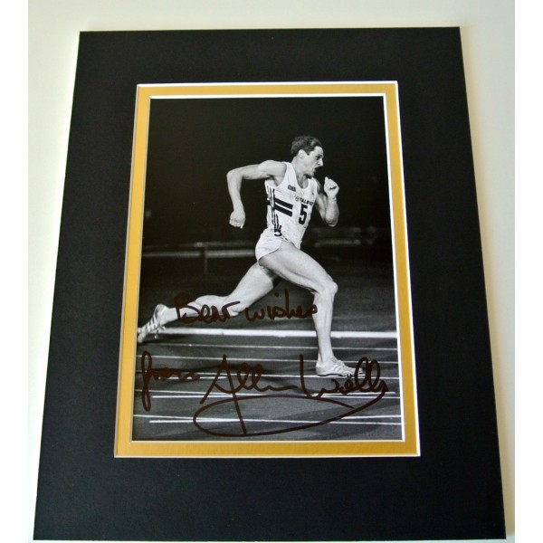 Allan Wells Signed Autograph 10x8 photo display Olympic Games 1980 Moscow & COA  CLEARANCE SALE