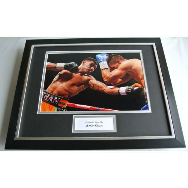 Amir Khan SIGNED FRAMED Photo Autograph 16x12 display Boxing Memorabilia COA AFTAL SPORT Memorabilia PERFECT GIFT