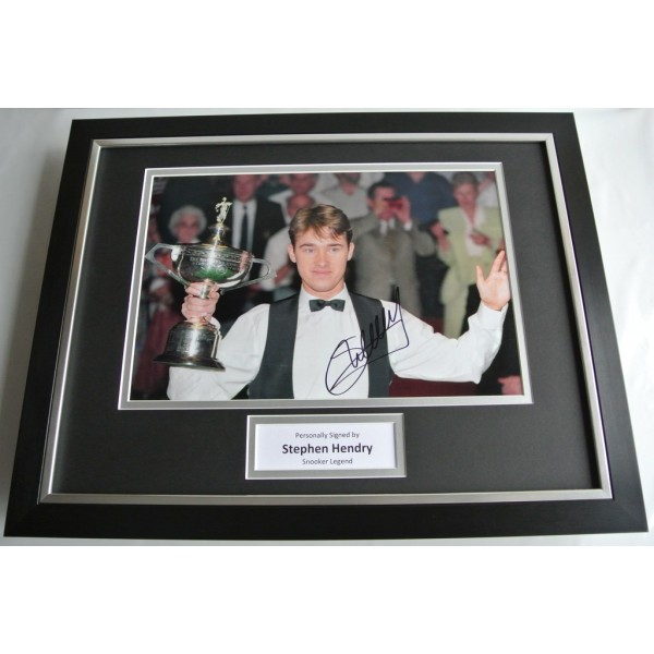 Stephen Hendry SIGNED FRAMED Photo Autograph 16x12 display Snooker AFTAL COA SPORT Memorabilia PERFECT GIFT