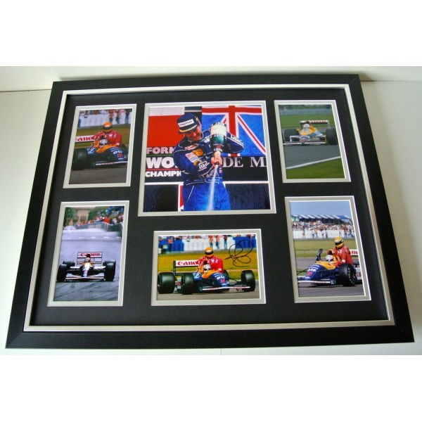 Nigel Mansell  SIGNED FRAMED Photo Autograph Huge display Formula 1 Racing & COA