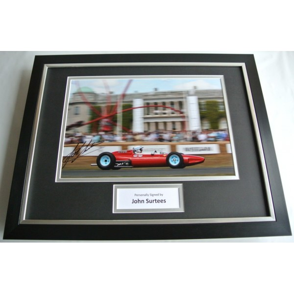John Surtees SIGNED FRAMED Photo Autograph 16x12 display Formula 1  COA AFTAL SPORT Memorabilia PERFECT GIFT