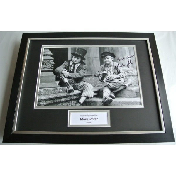 Mark Lester SIGNED FRAMED Photo Autograph 16x12 display Oliver Film Music COA AFTAL  Memorabilia PERFECT GIFT