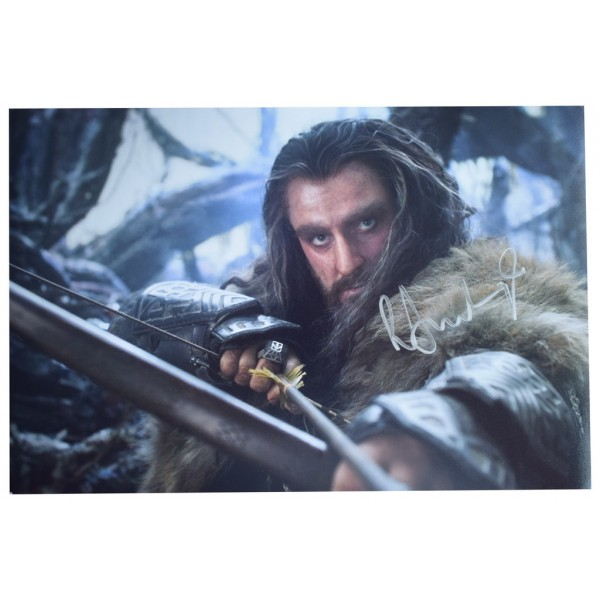 Richard Armitage SIGNED 12x8 Photo Autograph Hobbit Film  AFTAL  COA Memorabilia PERFECT GIFT