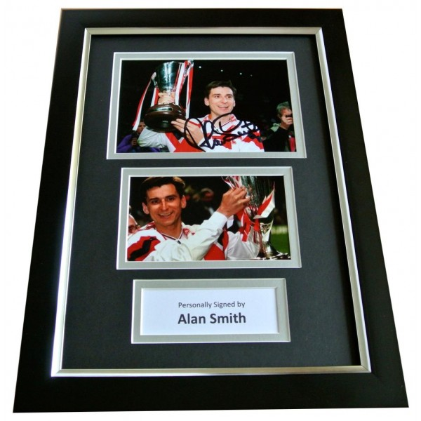 ALAN SMITH Signed A4 FRAMED Photo Autograph Display ARSENAL Memorabilia & COA PERFECT GIFT