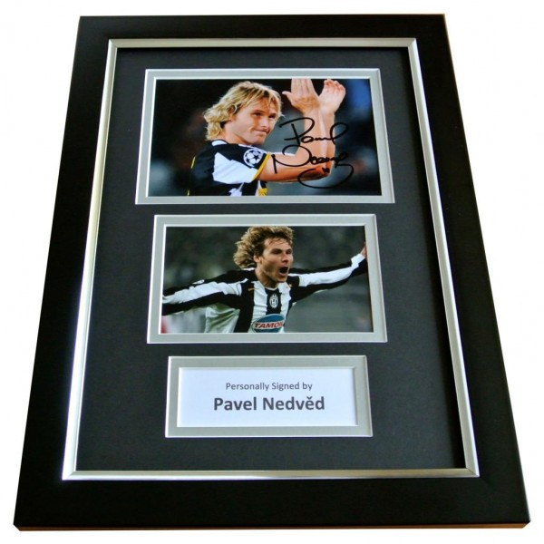 PAVEL NEDVED Signed A4 FRAMED Photo Autograph Display JUVENTUS Football & COA PERFECT GIFT
