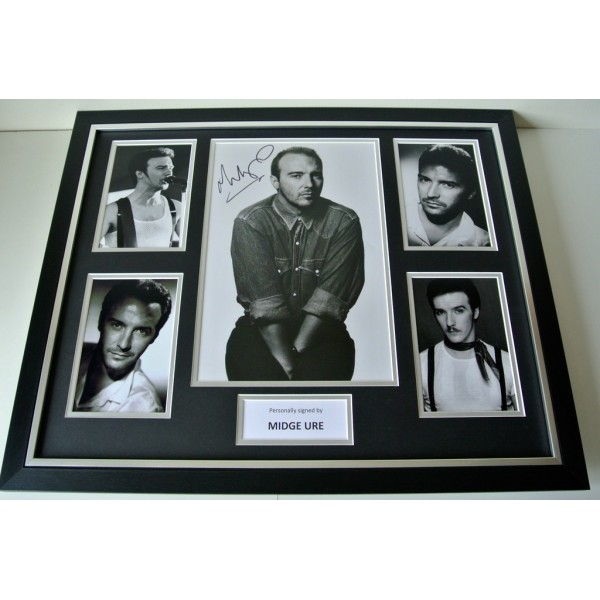 Midge Ure SIGNED FRAMED Photo Rare  Autograph Huge display Ultravox Music & COA