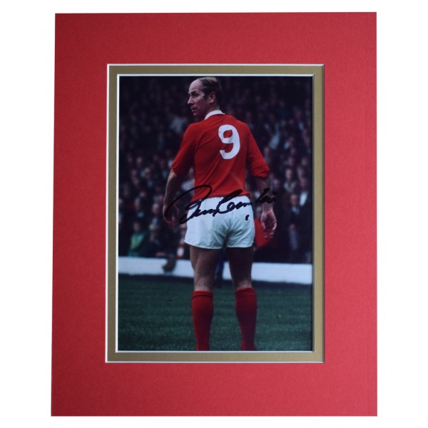 Bobby Charlton Signed Autograph 10x8 photo display Manchester United AFTAL  COA Memorabilia PERFECT GIFT