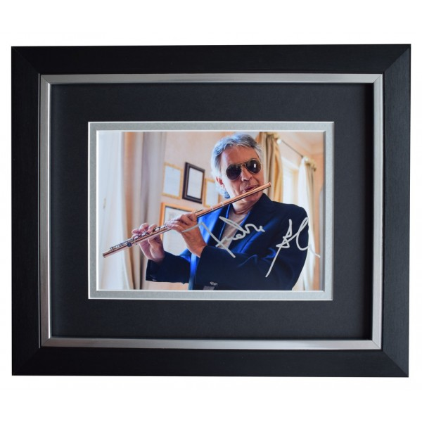 Andrea Bocelli SIGNED 10x8 FRAMED Photo Autograph Display Opera Music  AFTAL  COA Memorabilia PERFECT GIFT