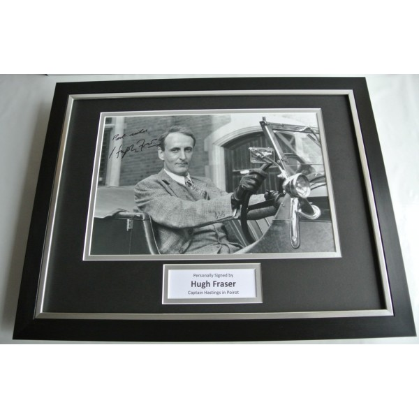 Hugh Fraser SIGNED FRAMED Photo Autograph 16x12 display Poirot TV Captain  TV Film AFTAL COA  Memorabilia PERFECT GIFT
