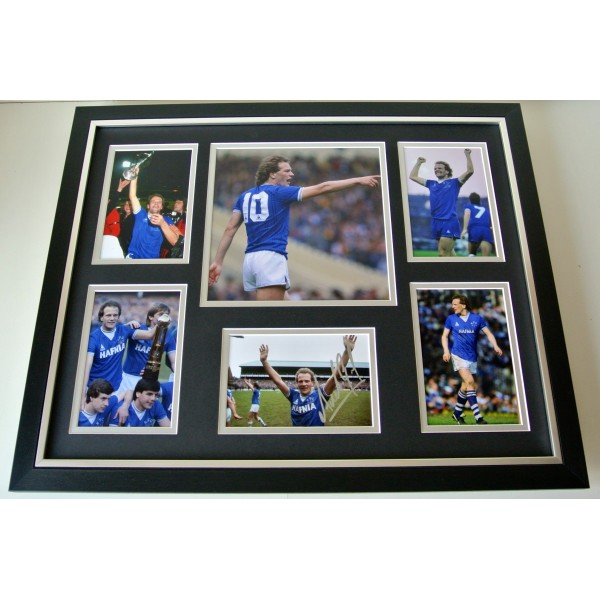 Andy Gray SIGNED FRAMED Photo Autograph Huge display Everton Football COA