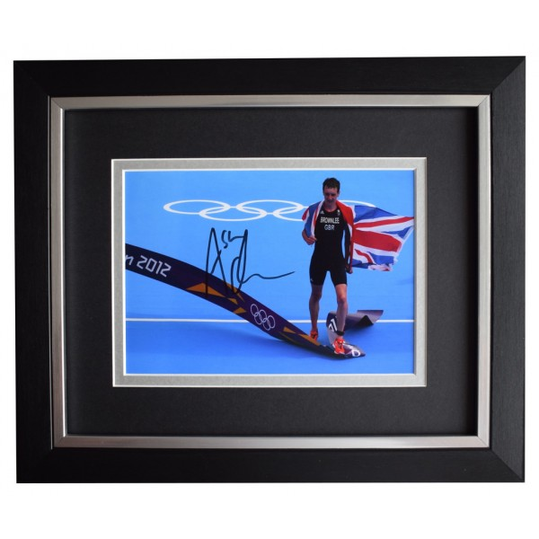 Alistair Brownlee SIGNED 10x8 FRAMED Photo Autograph Display Olympic Triathlon  AFTAL  COA Memorabilia PERFECT GIFT