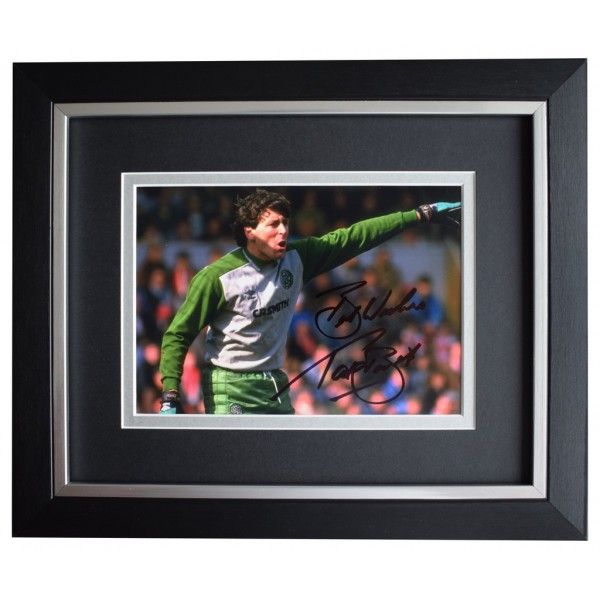 Paddy Bonner SIGNED 10x8 FRAMED Photo Autograph Display Celtic Football  AFTAL  COA Memorabilia PERFECT GIFT