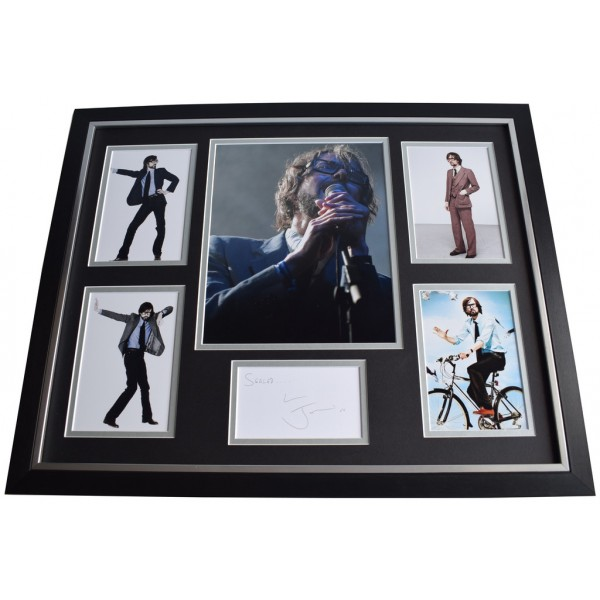 Jarvis Cocker SIGNED Framed Photo Autograph Huge display Pulp Music Memorabilia  AFTAL & COA PERFECT GIFT