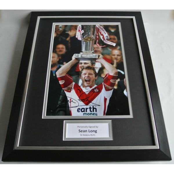 Sean Long SIGNED FRAMED Photo Autograph 16x12 display St Helens Rugby  AFTAL COA SPORT Memorabilia PERFECT GIFT